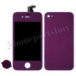 LCD with Touch Screen Digitizer, Home Button & Back Cover for iPhone 4(GSM)-Purple (no logo) PH-LCD-IP-3224PL