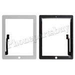 Touch Screen Digitizer for The New iPad 3 Generation/ iPad 4 ( Super High Quality ) - White PH-TOU-IP-00008WH