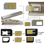 4FF Stainless Steel Nano SIM Card Cutter with Adapters for iPhone 5/ 5C/ 5S/ SE/ 6/ 6 Plus/ 6S/ 6S Plus/ 7/ 7Plus  MT-TO-IP-00005