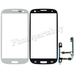 Glass Lens with home sensor cable for Samsung Galaxy S3 i9300 (for Samsung) - White PH-TOU-SS-00055WH