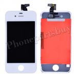 LCD with Touch Screen Digitizer and Frame for iPhone 4 (GSM)  (6.0 version of the above) - White PH-LCD-IP-151WHHV