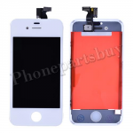 LCD with Touch Screen Digitizer and Frame for iPhone 4S (6.0 version of the above) - White PH-LCD-IP-3229WHHV
