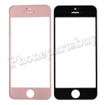 Touch Screen Glass for iPhone 5/ 5S - Electroplated Rose Gold Mirror Effect PH-TOU-IP-00019RG