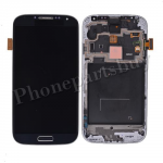LCD with Touch Screen Digitizer, Home Button and Bezel Frame for Samsung Galaxy S4 i9500(for SAMSUNG)-Black PH-LCD-SS-00081BKC