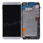 LCD with Touch Screen Digitizer and Bezel Frame and Sim Card Holder For HTC One 801e M7(for HTC)-Silver PH-LCD-HT-00055SL