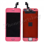 LCD with Touch Screen Digitizer, Frame & Home Button for iPhone 5S-Pink PH-LCD-IP-00045PK