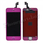LCD with Touch Screen Digitizer, Frame & Home Button for iPhone 5S-Purple PH-LCD-IP-00045PL