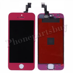 LCD with Touch Screen Digitizer, Frame & Home Button for iPhone 5S-Dark Pink PH-LCD-IP-00045DP