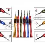 BK-3332A/ BK-332-2 Precision Screwdriver Set (6 PCS for 1unit:T6/ 25mm,T5/ 25mm,T4/ 25mm ,T3/ 25mm,T2/ 25mm,2.0/ 25mm) MT-TO-UN-00118