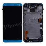LCD with Touch Screen Digitizer and Bezel Frame and Sim Card Holder For HTC One 801e M7(for HTC)-Light Blue PH-LCD-HT-00055LB