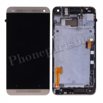 LCD with Touch Screen Digitizer and Bezel Frame and Sim Card Holder For HTC One 801e M7(for HTC)-Gold PH-LCD-HT-00055GD