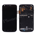 LCD with Touch Screen Digitizer, Bezel Frame and Side Button for Samsung GalaxyS2 T989(for T-Mobile) -Black PH-LCD-SS-00122BK