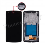 LCD with Touch Screen Digitizer and Bezel Frame for LG Google Nexus 5 D820/ D821(White Speaker Hole)-Black PH-LCD-LG-00079BKWH