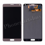 LCD with Touch Screen Digitizer for Samsung Galaxy Note 4 N910/ N910M/ N910F/ N910S/ N910C/ N910A/ N910V/ N910P/ N910R/ N910T/ N910W8  (for SAMSUNG, No Stylus Pen Flex Cable)-Gold PH-LCD-SS-00126GD