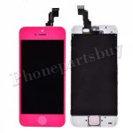 LCD, Touch Screen Digitizer & LCD Frame with Home Button for iPhone 5C-Dark Pink PH-LCD-IP-00046DP