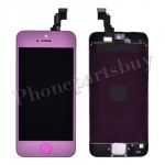 LCD, Touch Screen Digitizer & LCD Frame with Home Button for iPhone 5C-Purple PH-LCD-IP-00046PL