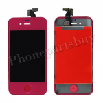LCD with Touch Screen Digitizer for iPhone 4 (GSM)-Hot Pink PH-LCD-IP-151HP