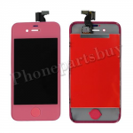 LCD with Touch Screen Digitizer for iPhone 4 (GSM)-Pink PH-LCD-IP-151PK