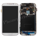 LCD with Touch Screen Digitizer & Home Button with Front Cover for Samsung Galaxy S4 i9500  (For Samsung)- White PH-LCD-SS-00081WHC