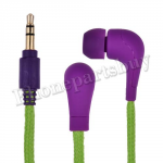 Fashion Shoelace Rope in Ear Headphones High Performance Earphone Headsets Studio(3.5mm)for iPhone/Samsung/HTC/LG Mobile Phone(SC-05) - Purple MT-EI-IP-00125PL