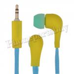 Fashion Shoelace Rope in Ear Headphones High Performance Earphone Headsets Studio(3.5mm)for iPhone/Samsung/HTC/LG Mobile Phone - Yellow MT-EI-IP-00126YE