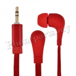 Fashion Shoelace Rope in Ear Headphones High Performance Earphone Headsets Studio(3.5mm)for iPhone/Samsung/HTC/LG Mobile Phone - Red MT-EI-IP-00126RD