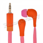 Fashion Shoelace Rope in Ear Headphones High Performance Earphone Headsets Studio(3.5mm)for iPhone/Samsung/HTC/LG Mobile Phone - Orange+Pink MT-EI-IP-00126ORPK