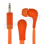 Fashion Shoelace Rope in Ear Headphones High Performance Earphone Headsets Studio(3.5mm)for iPhone/Samsung/HTC/LG Mobile Phone - Orange MT-EI-IP-00126OR