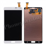 LCD with Touch Screen Digitizer and Stylus Pen Flex Cable for Samsung Galaxy Note 4 N910/ N910M/ N910F/ N910S/ N910C/ N910A/ N910V/ N910P/ N910R/ N910T/ N910W8(OEM) - White PH-LCD-SS-00124WH