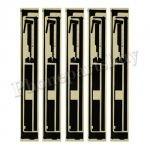Stickers for The New iPad 3rd Generation-Black (5 pcs for 1 unit) PH-AS-IP-00016BK