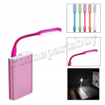 Silicone Flexible Portable USB LED Light Lamp for PC and Laptop-Hot Pink MT-EI-UN-00268HP