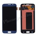 LCD with Touch Screen Digitizer for Samsung Galaxy S6 G920/ G920F/ G920I/ G920X/ G920A/ G920V/ G920P/ G920T/ G920R4/ G920W8(OEM) - Black sapphire PH-LCD-SS-00134BU