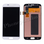 LCD with Touch Screen Digitizer for Samsung Galaxy S6 Edge G925 /G925F/ G925I/ G925X/ G925A/ G925V/ G925P/ G925T/ G925R4/ G925W8(for SAMSUNG) - White PH-LCD-SS-00135WH