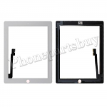 Touch  Screen  Digitizer  with  Home  Button  Assembly and stickers for  The  New  iPad  3  Generation -White PH-TOU-IP-00006WH