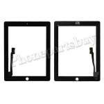 Touch  Screen  Digitizer  with  Home  Button  Assembly  for  The  New  iPad  3  Generation -Black PH-TOU-IP-00006BK
