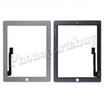 Touch Screen Digitizer for The New iPad 3 Generation/ iPad 4-Silver PH-TOU-IP-00005SL