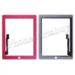 Touch Screen Digitizer for The New iPad 3 Generation/ iPad 4-Pink PH-TOU-IP-00005PK