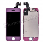 Complete LCD with Touch Screen Digitizer  Frame and Front Camera For iPhone 5S-Purple PH-LCD-IP-00049PL