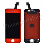 LCD, Touch Screen Digitizer & Black LCD Frame with Home Button for iPhone 5C-Red PH-LCD-IP-00046RD