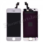 LCD with Touch Screen Digitizer & Frame for iPhone 5S /iPhone SE(2016)- Electroplated Silver Mirror Effect PH-LCD-IP-00044SLF