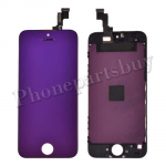 LCD with Touch Screen Digitizer & Frame for iPhone 5S/iPhone SE(2016) - Electroplated Purple Mirror Effect PH-LCD-IP-00044PL