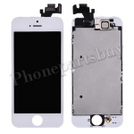 Complete LCD with Touch Screen Digitizer, Front Camera and Frame for iPhone5 - White PH-LCD-IP-00043WH