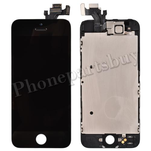 LCD Screen Digitizer+Front Camera+Frame for iPhone 5