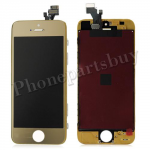 LCD with Touch Screen Digitizer & Black Frame for iPhone 5 - Electroplated Gold Mirror Effect PH-LCD-IP-00034GDF