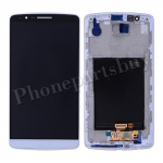 LCD Screen Display with Touch Digitizer and Bezel Frame for LG G3 D855/ D850/ VS985(for LG) - White PH-LCD-LG-00093WH
