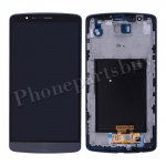 LCD Screen Display with Touch Digitizer and Bezel Frame for LG G3 D855/ D850/ VS985(for LG)- Gray PH-LCD-LG-00093GY