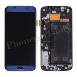 LCD Screen Display with Touch Digitizer Panel, Bezel Frame and Home Button for Samsung Galaxy S6 Edge G925/ G925F/ G925I/ G925X/ G925A/ G925T/ G925R4/ G925W8(OEM) - Black sapphire PH-LCD-SS-00137BU