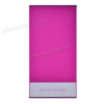 Sound Trick Box Speaker for Mobile Phone/ Tablet P/ MP3 (With sensing capabilities) (SP4) - Hot Pink MT-EI-IP-00128HP