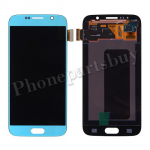 LCD Screen Display with Touch Digitizer Panel for Samsung Galaxy S6 G920/ G920F/ G920I/ G920X/ G920A/ G920V/ G920P/ G920T/ G920R4/ G920W8(OEM) - Blue Topaz PH-LCD-SS-00134LB