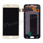 LCD Screen Display with Touch Digitizer for Samsung Galaxy S6 G920/ G920F/ G920I/ G920X/ G920A/ G920V/ G920P/ G920T/ G920R4/ G920W8(OEM) - Gold Platinum PH-LCD-SS-00134GD